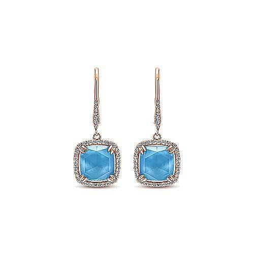 14k Rose Gold Lusso Color Drop Earrings