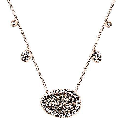 14k Rose Gold Lusso Color Fashion Necklace