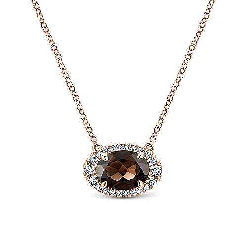 14k Rose Gold Lusso Color Fashion Necklace angle 1
