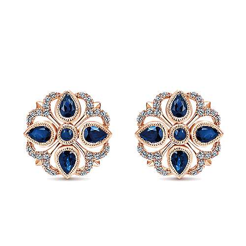 Gabriel - 14k Rose Gold Lusso Color Stud Earrings