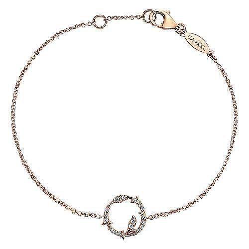 Gabriel - 14k Rose Gold Lusso Diamond Chain Bracelet