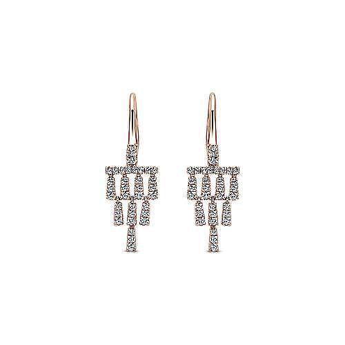 Gabriel - 14k Rose Gold Lusso Diamond Drop Earrings