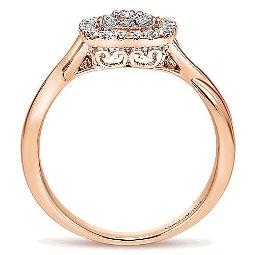 14k Rose Gold Lusso Diamond Fashion Ladies' Ring angle 2
