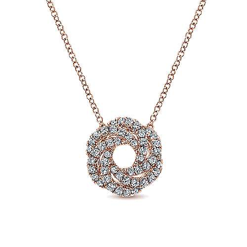 Gabriel - 14k Rose Gold Lusso Diamond Fashion Necklace