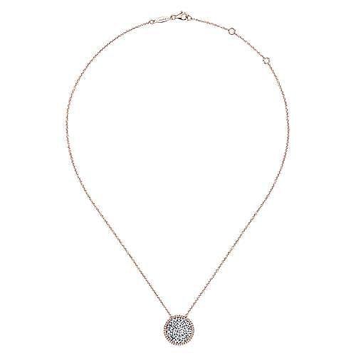 14k Rose Gold Lusso Diamond Fashion Necklace angle 2