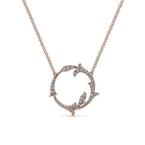 Gabriel - 14k Rose Gold Lusso Diamond Fashion Necklace