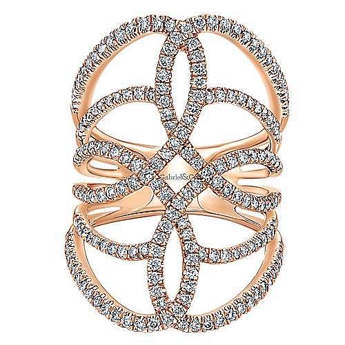 Gabriel - 14k Rose Gold Lusso Diamond Statement Ladies' Ring