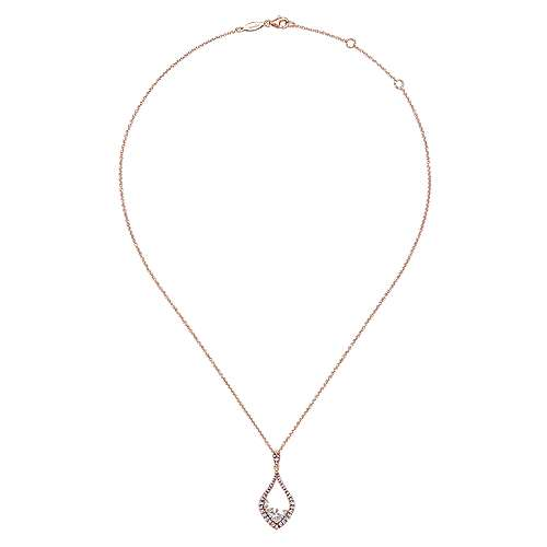 14k Rose Gold Lusso Fashion Necklace angle 2