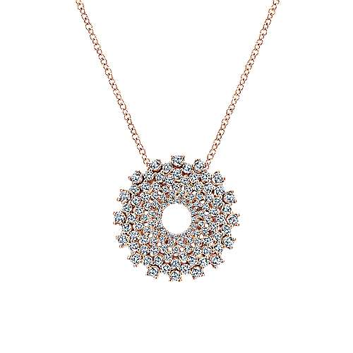 14k Rose Gold Lusso Fashion Necklace angle 1