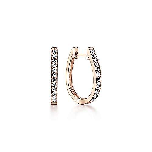 14k Rose Gold Lusso Huggie Earrings