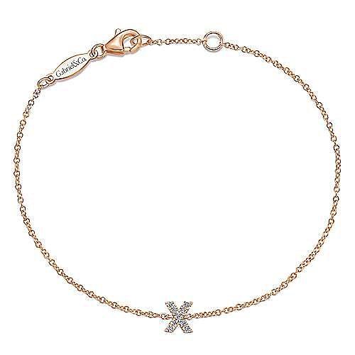 14k Rose Gold Lusso Initial Bracelet