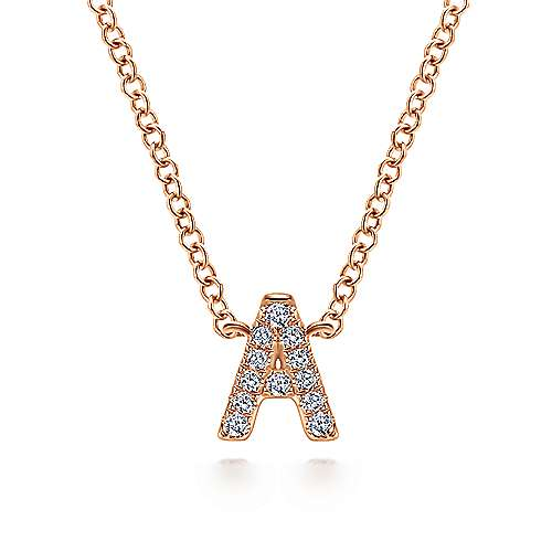 Gabriel - 14k Rose Gold Lusso Initial Necklace