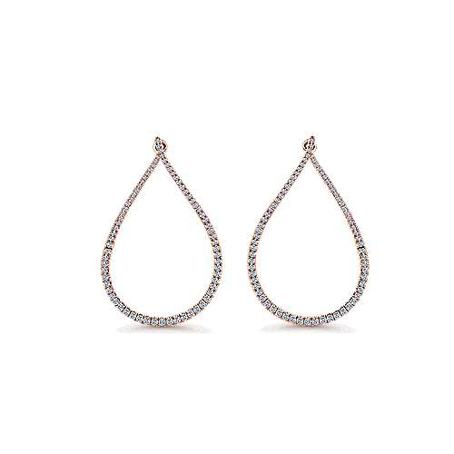 14k Rose Gold Lusso Intricate Hoop Earrings