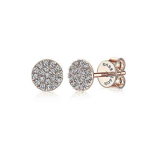 Gabriel - 14k Rose Gold Lusso Stud Earrings
