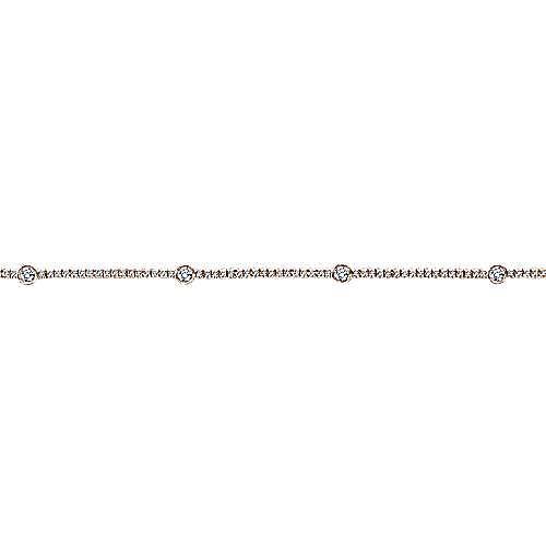14k Rose Gold Lusso Tennis Bracelet angle 2