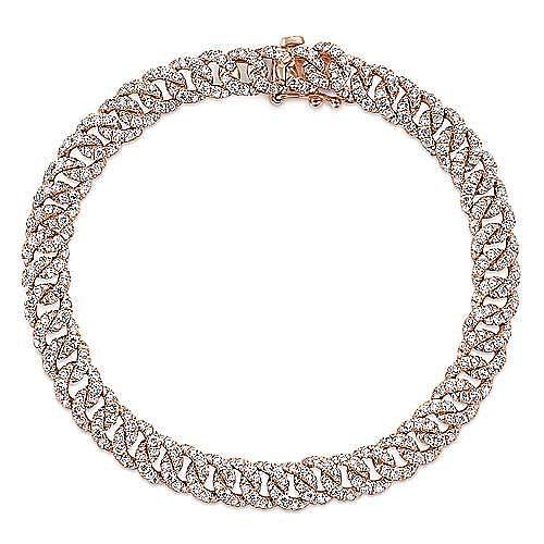 Gabriel - 14k Rose Gold Lusso Tennis Bracelet