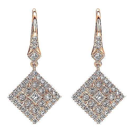 Gabriel - 14k Rose Gold Messier Drop Earrings