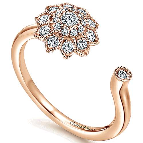 14k Rose Gold Messier Fashion Ladies' Ring angle 3