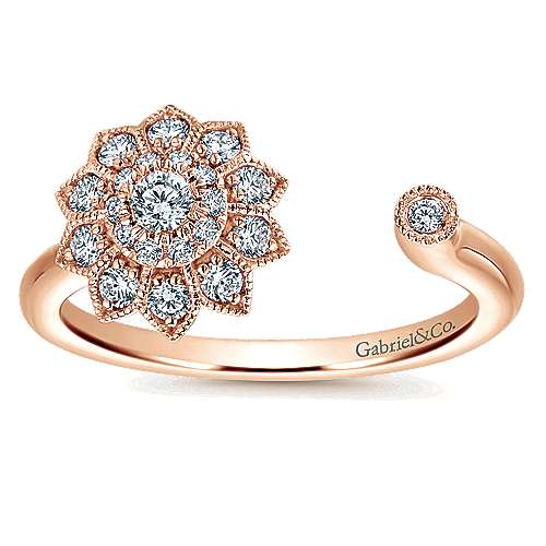 14k Rose Gold Messier Fashion Ladies' Ring angle 4