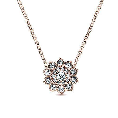 14k Rose Gold Messier Fashion Necklace angle 1