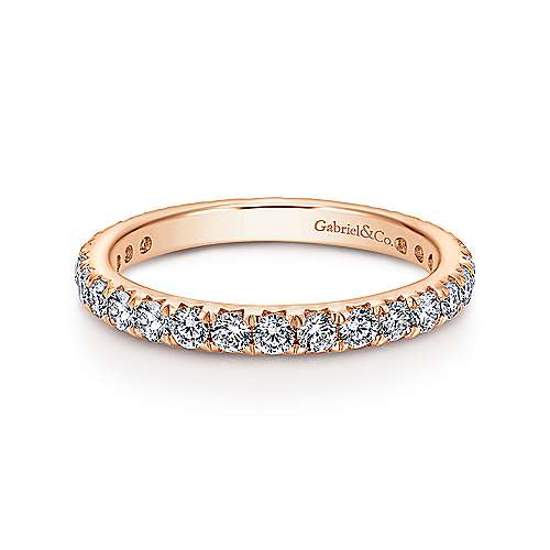 Gabriel - 14k Rose Gold Micro Pavé Eternity Band