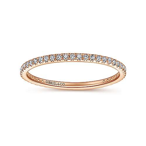 14k Rose Gold Micro Pavé Set Eternity Band