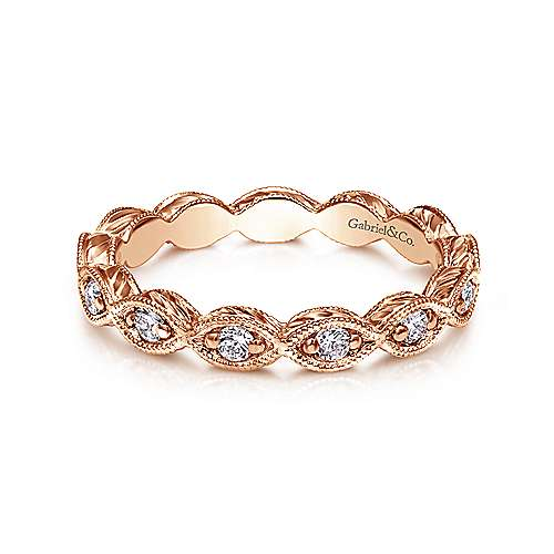 14k Rose Gold Midi Ladies' Ring angle 1