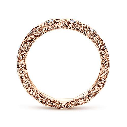 14k Rose Gold Midi Ladies' Ring angle 2