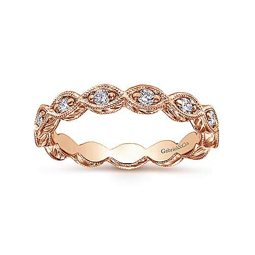 14k Rose Gold Midi Ladies' Ring angle 4