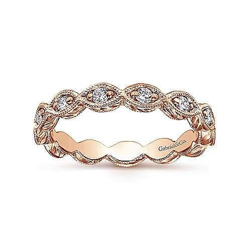 14k Rose Gold Midi Ladies' Ring angle 4