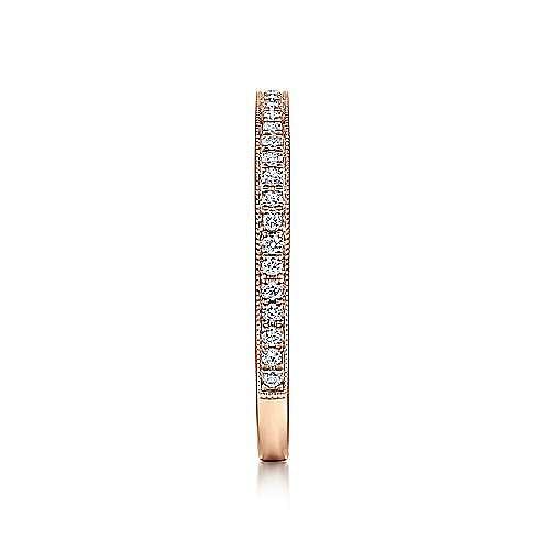 14k Rose Gold Pavé Diamond Eternity Stackable Ring