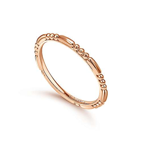 14k Rose Gold Sculpted Midi Ladies' Ring