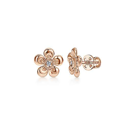Gabriel - 14k Rose Gold Secret Garden Stud Earrings