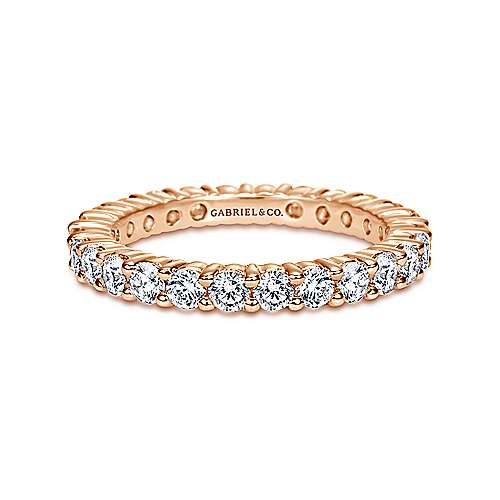 Gabriel - 14k Rose Gold Shared Prong Eternity Band