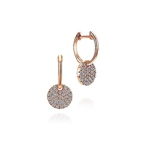14k Rose Gold Silk Drop Earrings angle 1