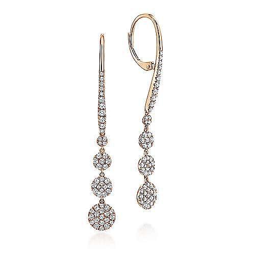 Gabriel - 14k Rose Gold Silk Drop Earrings