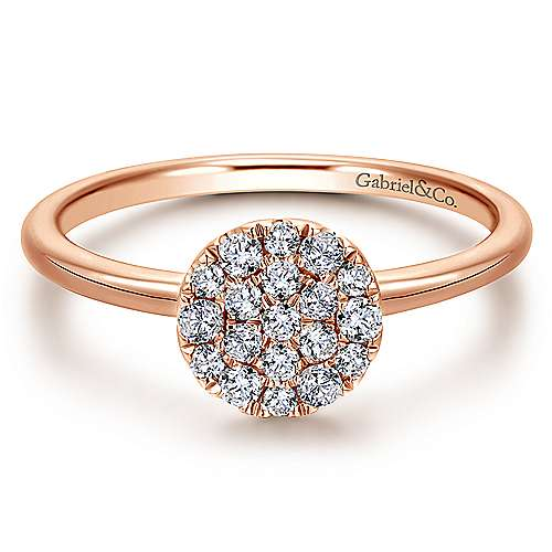 Gabriel - 14k Rose Gold Silk Fashion Ladies' Ring