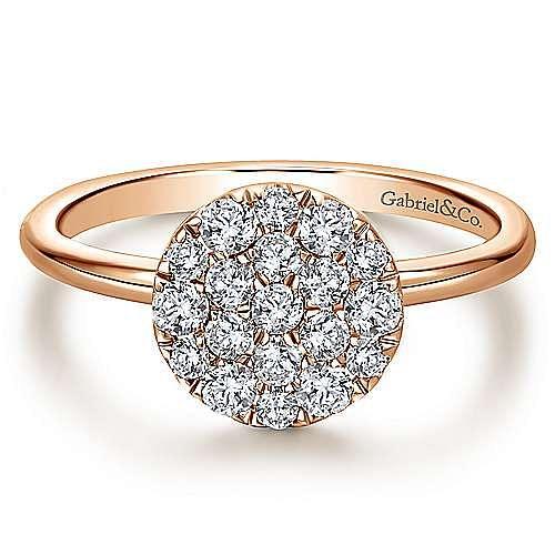 Gabriel - 14k Rose Gold Silk Fashion Ladies' Ring