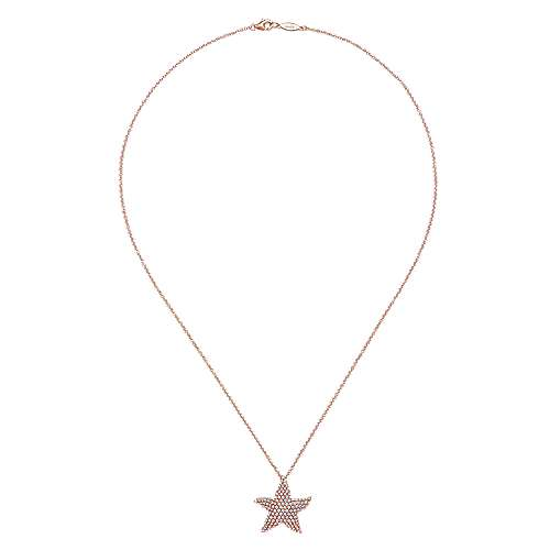 14k Rose Gold Silk Fashion Necklace angle 2