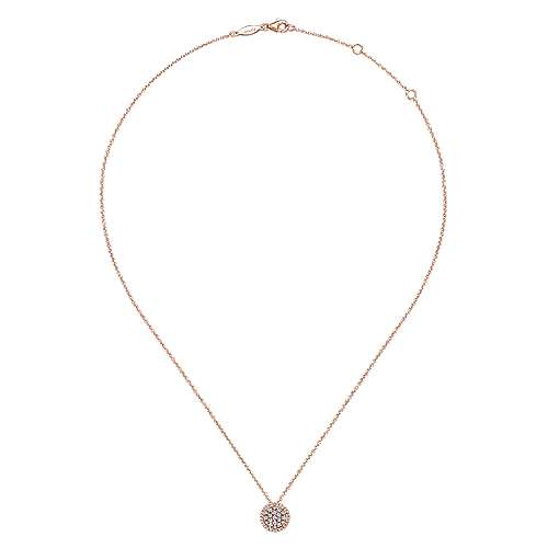 14k Rose Gold Silk Fashion Necklace angle 2