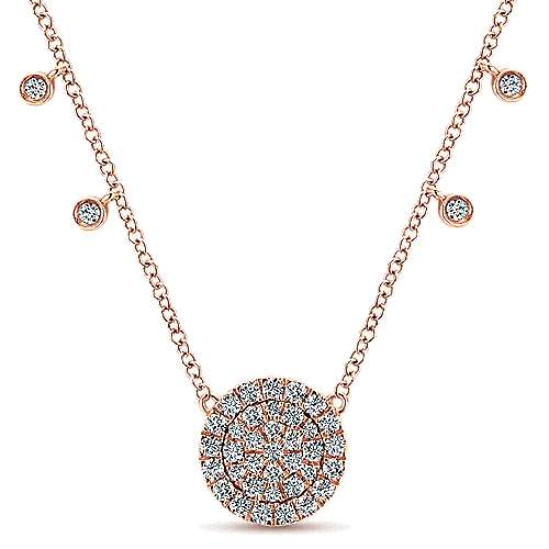Gabriel - 14k Rose Gold Silk Fashion Necklace