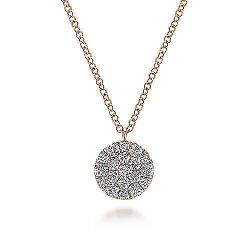 14k Rose Gold Silk Fashion Necklace angle 1