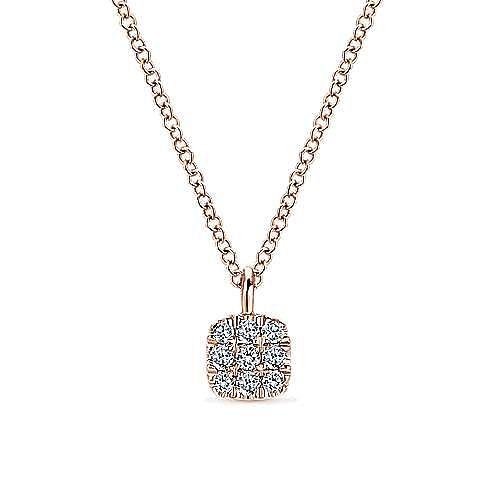 Gabriel - 14k Rose Gold Silk Fashion Necklace