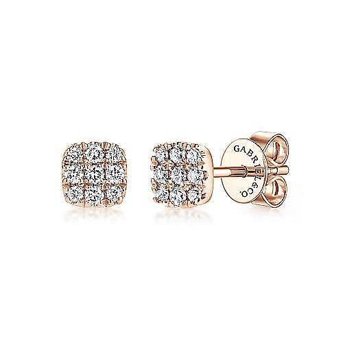 Gabriel - 14k Rose Gold Silk Stud Earrings