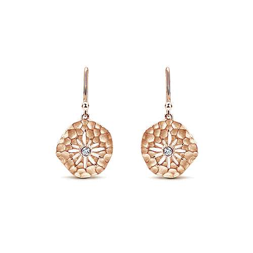 14k Rose Gold Souviens Drop Earrings angle 1