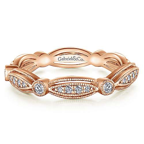 14k Rose Gold Stackable Eternity Stackable Ladies Ring