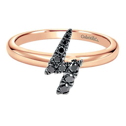 14k Rose Gold Stackable Fashion Ladies' Ring angle 1