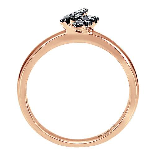 14k Rose Gold Stackable Fashion Ladies' Ring angle 2