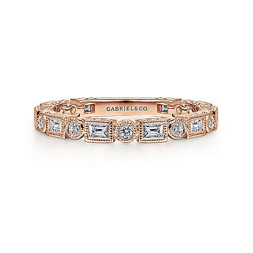 14k Rose Gold Stackable Ladies Ring Lr4380k44jj Gabriel Co