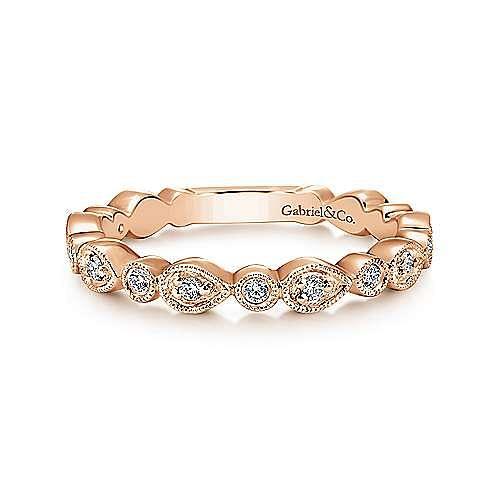 Gabriel - 14k Rose Gold Stackable Ladies' Ring